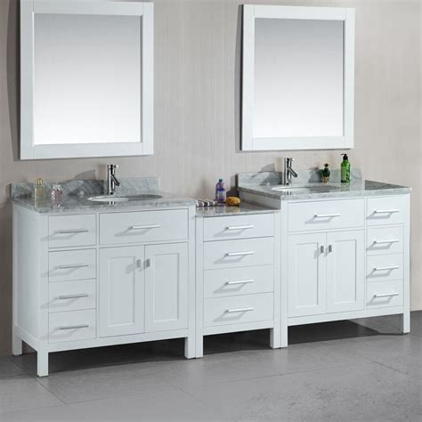 white double sink bathroom vanity shop design element london white undermount double sink
