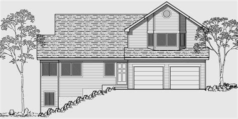 side slope house plans hillside home plans with basement sloping lot house plans