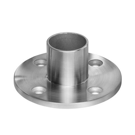 stainless steel l post long neck floor flange for terminal posts