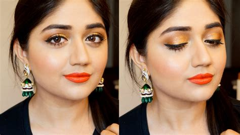 hair and makeup for wedding guest indian wedding guest makeup corallista youtube