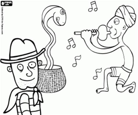 snake charmer coloring page explorers and adventurers coloring pages printable games