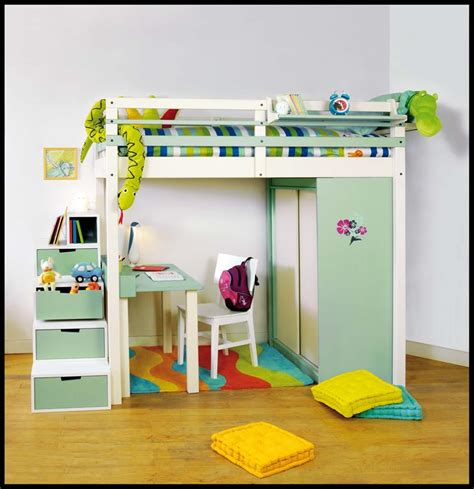 lit enfant mezzanine bureau lit mezzanine enfant avec bureau et rangements int 233 gr 233 s