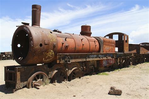 rusty train where trains go to rust uyuni s train cemetery