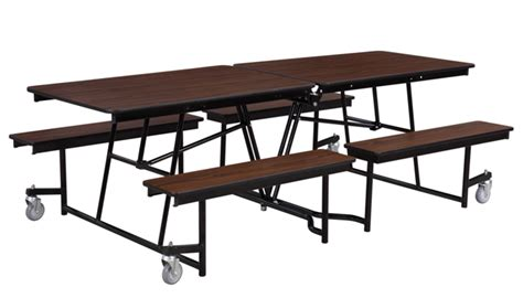 cafeteria bench national public seating mobile bench cafeteria table w protectedge 8 l mtfb 8