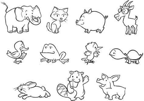 coloring animals baby animal coloring pages bestofcoloring