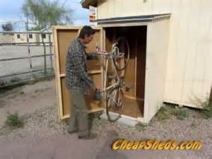 compact vertical bike storage shed plans yard