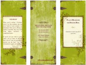 pages brochure templates weathered tri fold brochure template for pages free