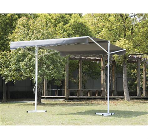 Patio Awning Grey Outsunny 9 8 Freestanding Patio Awning Grey Aosom Ca