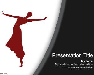 ppt themes dance free dj entertainment powerpoint template