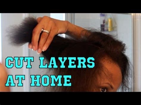 how not to trim layer your hair at home