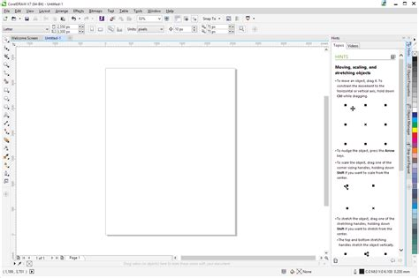 tutorial de corel draw x7 pdf a look at the interface corel discovery center