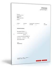 Musterbrief Reklamation Uhr Arbeitsbescheinigung Muster Vorlage Zum