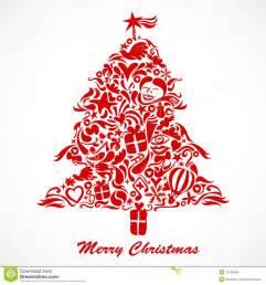 roter weihnachtsbaum lizenzfreie stockfotos bild 16700548
