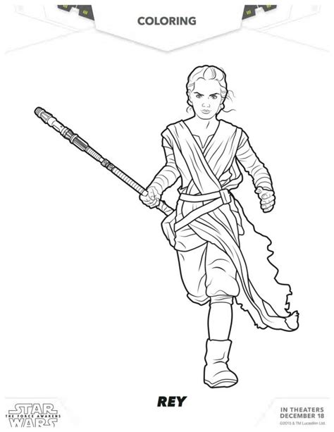 Star Wars The Force Awakens Rey Coloring Page Mama Wars 7 Coloring Pages