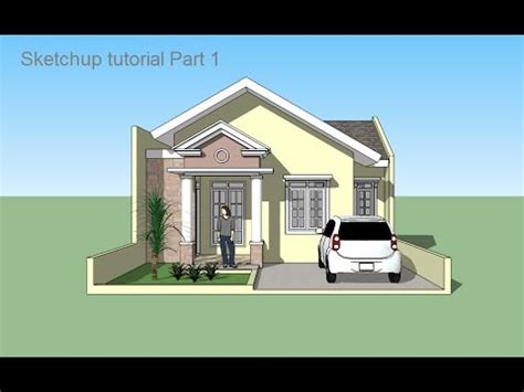 sketchup design house sketchup tutorial house building part 1 youtube