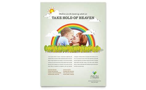 adoption flyer template foster care adoption brochure template design