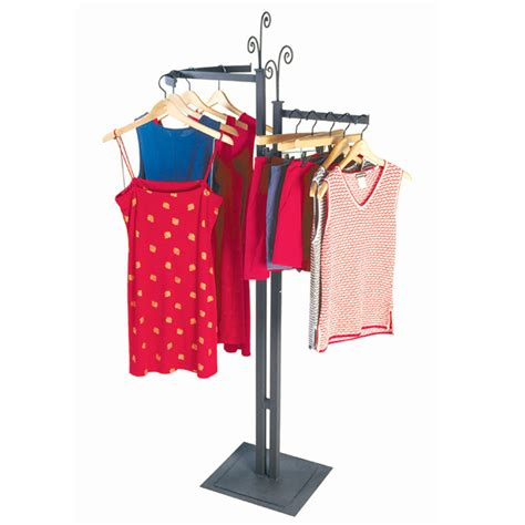 steel clothing rack decorative 2 way clothing