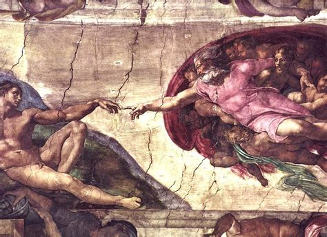 Sistine Chapel Ceiling Adam And by History Reading Through History