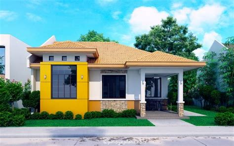 modern bungalow floor plans modern bungalow house with 3d floor plans and firewall