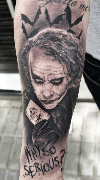 joker tattoo black and white i want this tattoo so bad the dark knight the joker