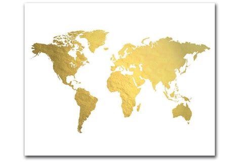 Folie Drucken Mac by Welt Karte Drucken Goldfolie Map Gold Weltkarte Gold Karte