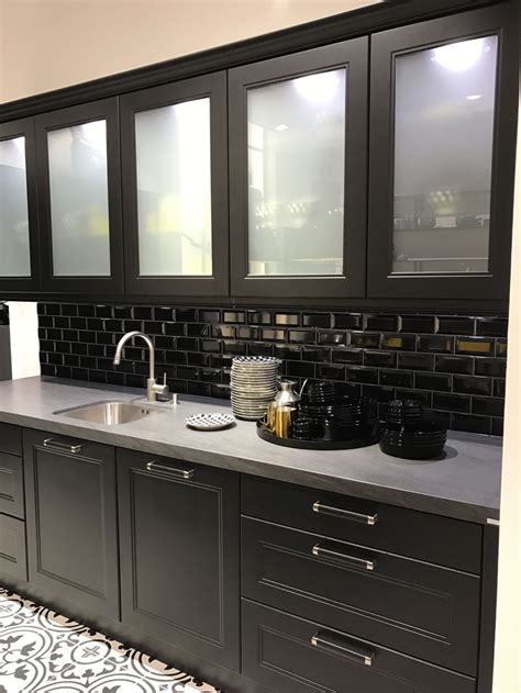 Black Cabinets With Glass Doors Glass Kitchen Cabinet Doors And The Styles That They Work Well With
