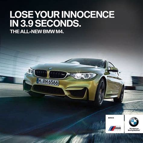 mercedes vs bmw ads bmw m4 coupe whitty ad advertising cars speed