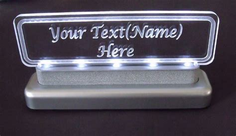 Office Desk Name Plates Custom Lighted Desk Name Plate Personalized Glass Acrylic Carved Within Glass Desk Name Plates