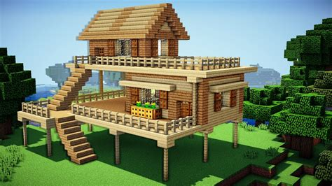 how to build houses on minecraft minecraft starter house tutorial how to build a house in minecraft easy youtube