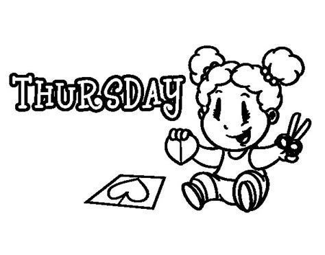 Thursday Coloring Page Coloringcrew Com Days Of The Week Coloring Pages
