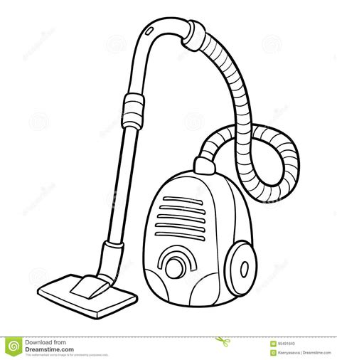 coloring pages vacuum cleaner coloring book vacuum cleaner stock vector illustration
