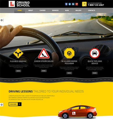 powerpoint templates free download racing 10 driving school wordpress templates themes free