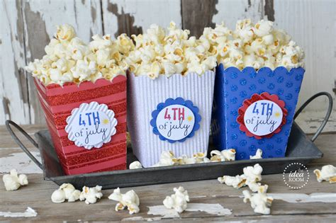 in july theme ideas popcorn box template fourth of july the idea room