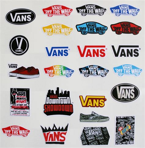 vans the wall sticker 24pcs vinyl stickers vans for snowboard luggage car laptop