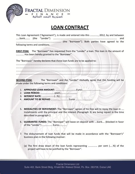 Best Of Small Business Investment Agreement Template Templates Design Free Financial Loan Agreement Template