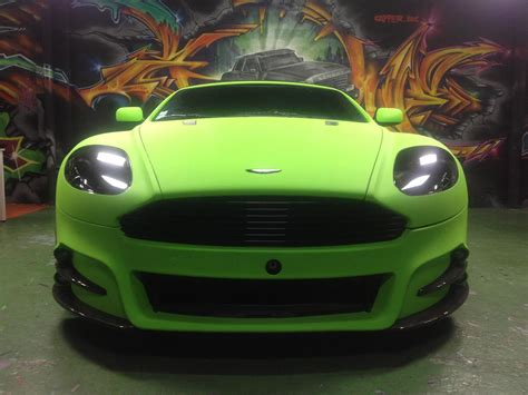 lime green aston tuners dartz aston martin db9 mansory lime green matt