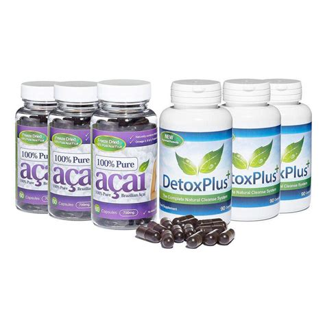 Detox Plus Colon Cleanse Evolution Slimming by 100 Acai Berry Colon Cleanse Combo Package With