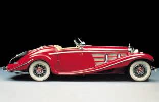 Right side red 1935 mercedes benz 540k convertible car picture