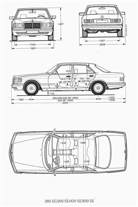 Blueprint Photo Paper 260 mercedes w126 1990 blueprint free blueprint for 3d modeling