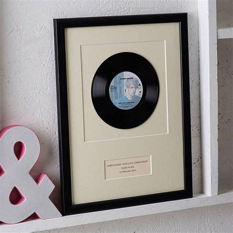 personalised framed vinyl record  notonthehighstreet