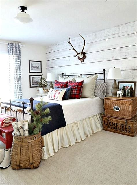 christmas cabin guestroom   giveaway home bedroom
