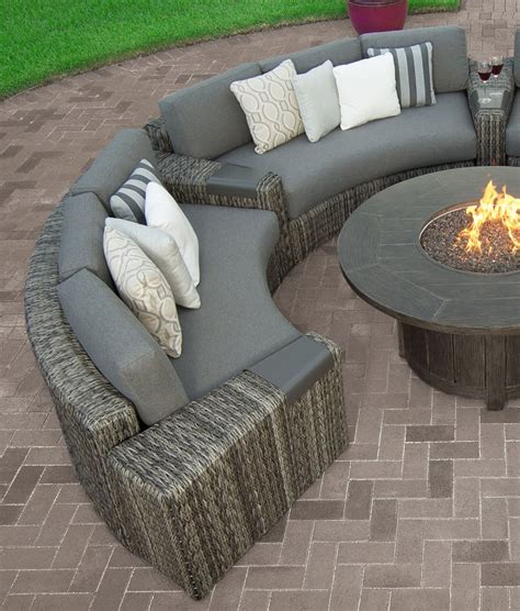 Outdoor Curved Sectional Sofa 3 Piece Wicker Outdoor Curved Outdoor Patio Furniture