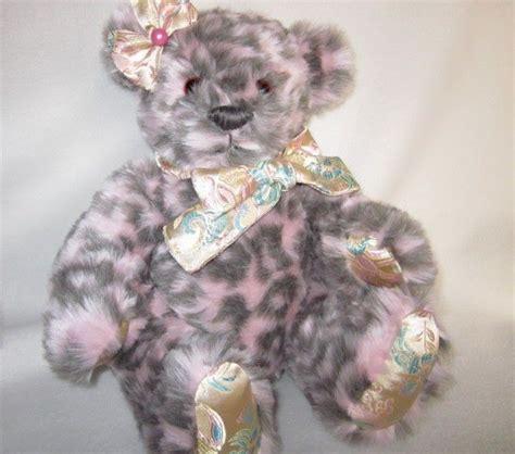 Handmade Teddy Bears For Sale - handmade teddy bears and raggedies pink and grey teddy