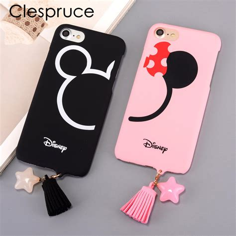 Mickey And Minnie Mouse Q0214 Iphone 7 Plus Casing Premium Hardcase mickey mouse minnie phone for iphone 7 6 6s 8 8plus 7 plus pc back cover