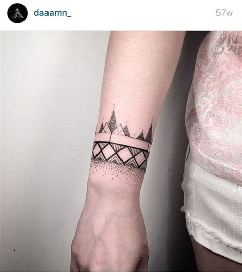 wrist tattoo line and dot work tattoos pinterest
