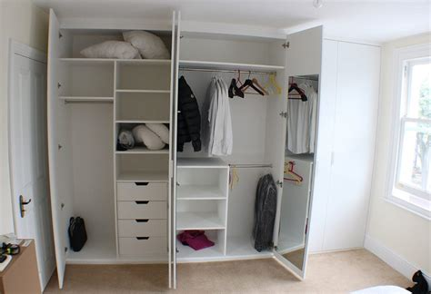 wall drop design in bedroom wardrobe inside layout closet traditional with built in