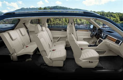 volkswagen atlas interior seating 2018 volkswagen atlas passenger and cargo space