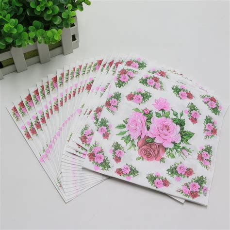 Tissue Napkin China 12 popular flower paper napkins buy cheap flower paper