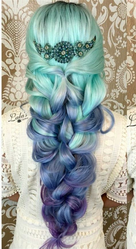 dyed hairstyles purple blue purple ombre dyed hair color hairstyle pinterest