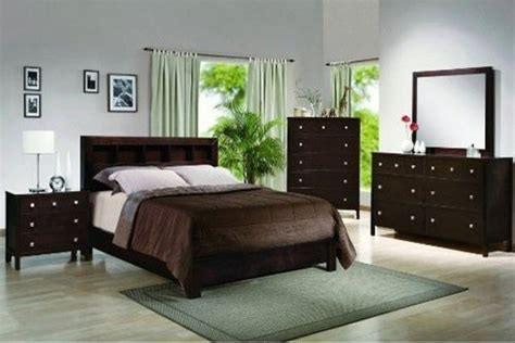 dark wood bedroom set crown mark 4 pc alden contemporary dark finish wood